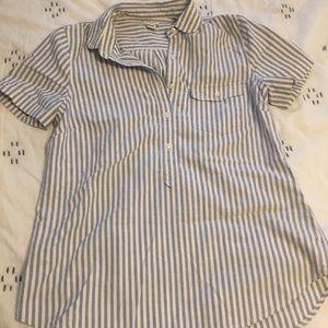 J.Crew Round Collar Popover Shirt